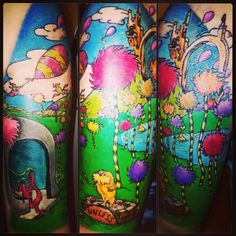 Dr. Seuss tattoo by Eryka @erykane ink