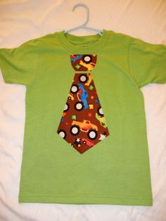 Monster Trucks Fat Tie TShirt by LivieandLukes on Etsy, $14.00