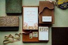 """Desert Rose"" Letterpress Invitation - Antiquaria"