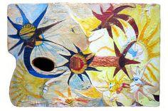 """Saatchi Art Artist Cora de Lang; Painting, """"Rhino in the Sunfields"""" #art"""