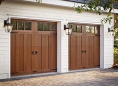 Carriage-style garage doors from Clopay