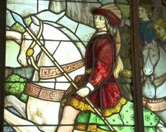 The hunt, large historic stained glass by Mauméjean Brothers - Stained glasses Red Tunic, Medieval Costume, Architectural Antiques, French Decor, Stained Glass Windows, Gothic Fashion, French Antiques, Glass Art, French Style