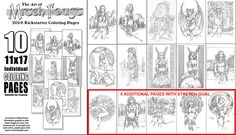 Set of 19 individual coloring pages are available at https://www.kickstarter.com/projects/999214729/the-art-of-mitch-foust-2016-yearbook?ref=category  when the next  stretch goal is met, the number will increase to 15! Available through July 10, 2016