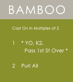 How to Knit the BAMBOO Stitch   Easy Free Written Knit Stitch Pattern from Studio Knit