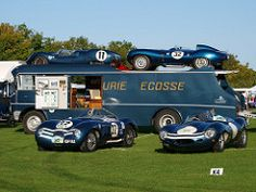 are honoured to be providing the bespoke overalls for the iconic Ecurie Ecosse racing team. Cool Trucks, Big Trucks, Cool Cars, Jaguar, Classic Race Cars, Classic Trucks, Vintage Racing, Vintage Cars, Le Mans