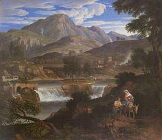File: Waterfalls at Subiaco (1812-1813), Joseph Anton Koch