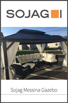 We like to keep our eyes on Sojag as a pioneer in the designing of backyard sunshelters and gazebos, and the Messina is another example of this.  Read our review to find out more about it!  #gazebo #homedecorr #gnomewisdom #summer #party Diy Gazebo, Pergola, Hardtop Gazebo, Messina, Best Model, Outdoor Furniture, Outdoor Decor, Good Times, This Is Us