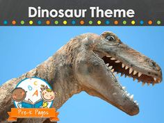 Ideas and activities for a dinosaur theme in your preschool, pre-k, or kindergarten classroom.