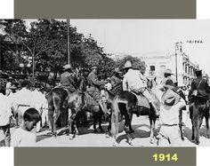 Ejército Constitucionalista en el zócalo de Veracruz. La foto es muy probable no corresponda al 23 de noviembre de 1914, pero…