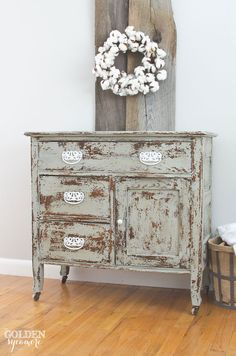 New Look for an Antique Wash Stand