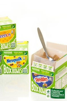 Vote now for packaging excellence: The European Carton Excellence award honours the best packaging design made from sustainable cartonboard. Shreddies, Excellence Award, Packaging Design, Awards, Eat, Design Packaging, Package Design