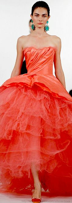 Oscar de la Renta  (I couldn't wear this pretty color to save my life, but THIS is a fantastic dress ))