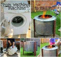 The Perfect DIY Fire pit from Washing Machine