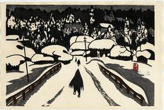 A snowy day is a good day to appreciate Japanese printmaker Kiyoshi Saito.