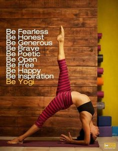 All of those things.  And I must try this asana.