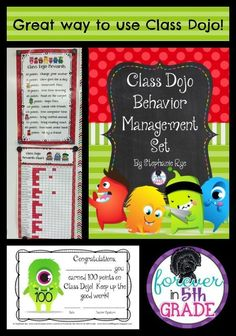 Try this FREEBIE for a new way to use Class Dojo that will motivate your students even more!  Find out how at Forever in Fifth Grade!