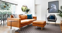 Our Charlie sofa in soft tan leather shown here in a project by our lovely client Libby Winberg.   #scandi #livingroom #tanleathersofa #livingroominspo #tanleathercouch #tanleatherlounge #charcoalinteriors #minimalinteriors #minimal #australianmade #armadillo&co #designerfurniture #naturalrug #modernfurniture  #cameronfoggo #fabriclounge  #madetoorder