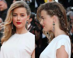 Side hair plus cool en lui apportant un style bohème. Amber Heard profite en effet du côté de sa chevelure plaqué pour effectuer une longue tresse.