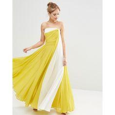 ASOS SALON Colour Block Cami Maxi Dress (220 BGN) ❤ liked on Polyvore featuring dresses, multi, cami maxi dress, tall maxi dresses, strappy maxi dress, drape dress and maxi dresses