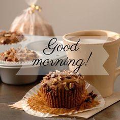 Good morning! #goodmorning muffins coffee