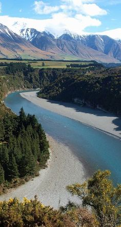 Rakaia Gorge and Mt Hutt, South Island, NZ.