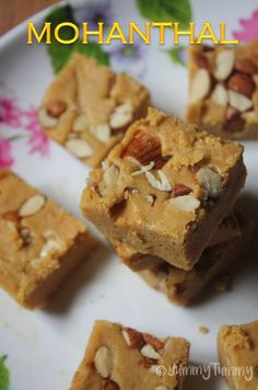 YUMMY TUMMY: Mohanthal Recipe - Gram Flour Fudge Recipe