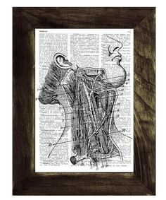 Upcycled Dictionary Page Arteries anatomy Art Print Upcycled Book Print Upcycled Bookprint