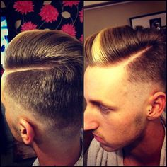love this fade and love that lil blond streak in the front!