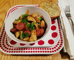Delicious and very easy recipe for chicken and kielbasa dinner.