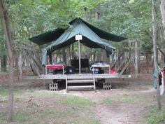 Tent Camping at Camp Blue Bay gives girls the traditional camping experience.