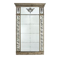 Rectangular Foot Hall Mirror with Traditionally Ornated Framework, Brown and Clear Tall Wall Mirrors, Mirror Wall, Reclaimed Wood Frames, Wall Mounted Mirror, Glass Mirror, Hall Mirrors, Mirror, French Provincial Decor, Free Mirror