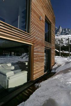 façade salon - Chalet Piolet par Chevallier Architectes - Chamonix, France