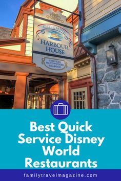 When dining at Walt Disney World, you'll have lots of restaurant options. Quick service restaurants can be a great flexible option, because you won't need a reservation and can go at any time. You can also use the Disney Dining Plan at Quick Service restaurants. Here are the best quick service Disney restaurants in our experience. Epcot Restaurants, Disney World Restaurants, Disney World Parks, Walt Disney World Vacations, Disney World Tips And Tricks, Disney Tips, Magic Kingdom Quick Service, Animal Kingdom Restaurants, Disney Dining Plan