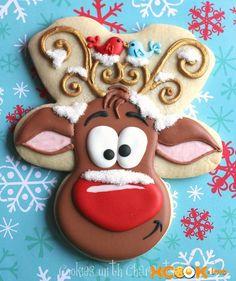 Рецепт с пошаговыми картинками, как испечь новогоднее печенье Олень