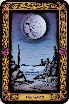The Moon tarot The Moon Tarot Card, Tarot Major Arcana, Daily Tarot, Oracle Tarot, Cartomancy, Believe In Magic, Tarot Decks, Magick, Witchcraft