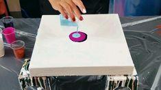 Just paint and water Dutch pour, fluid art technique videos Acrylic Pouring Techniques, Acrylic Pouring Art, Acrylic Art, Flow Painting, Diy Painting, Pour Painting, Painting On Glass, Watercolor Paintings, Glass Paint