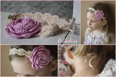 flower Rail - World Full of cuteness and amigurumi: Headbands for girls