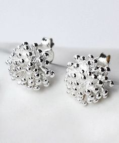 Loving this Sterling Silver Cluster Stud Earrings on #zulily! #zulilyfinds