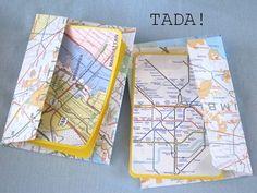 blah: old maps/TADA!: greeting cards & matching envelopes