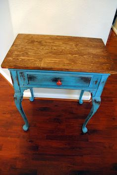 With my old sewing machine? For a nursery with baskets underneath?