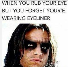 I'll just do a sleek, thin line of eyeliner today AAAAAAND I'm Amy Winehouse.