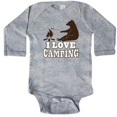 inktastic Rather Be Camping C3 Long Sleeve Creeper