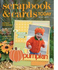 2010 - fall - past scrapbook and cards magazine