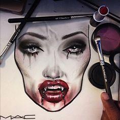 cool vampire halloween makeup