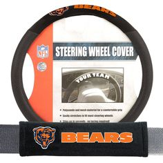 Chicago Bears Steering Wheel Cover | Steering Wheel Covers ...