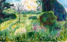 Morning in the Garden Edvard Munch - 1911-1912