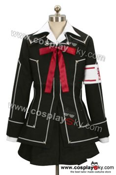Vampire Knight Day Class Girl Kurosu Yuuki Cosplay Costumes-1