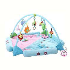 Zicac Baby Play Mat Playmat Activity Gym Educational Toys Fancy Sense Stimulator Flower Pattern (Blue)