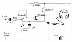 O injetor de sinais, o seguidor de sinais ou pesquisador de áudio estão na classe dos Instrumentos Analisadores de Circuitos. Eles eles podem auxiliar a procurar o problemas
