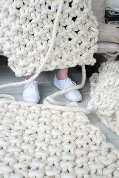 more giant knitting - where do you find rope/yarn this big?  Seriously